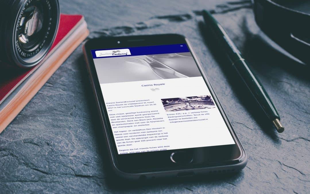 Website Kiwanis Zeeland