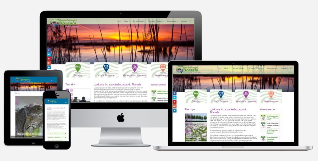 Website Landschapspark Borsele