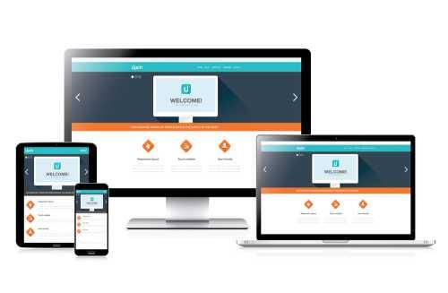 website met moderne vormgeving