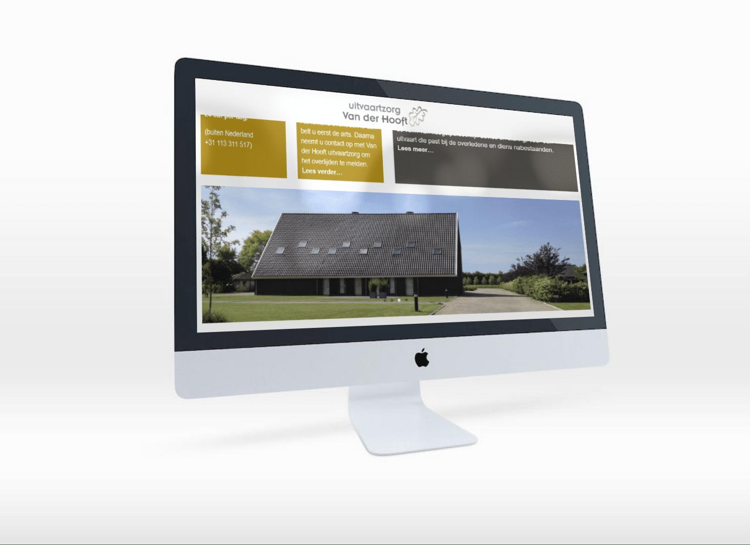 Uitvaartzorg van der Hooft website