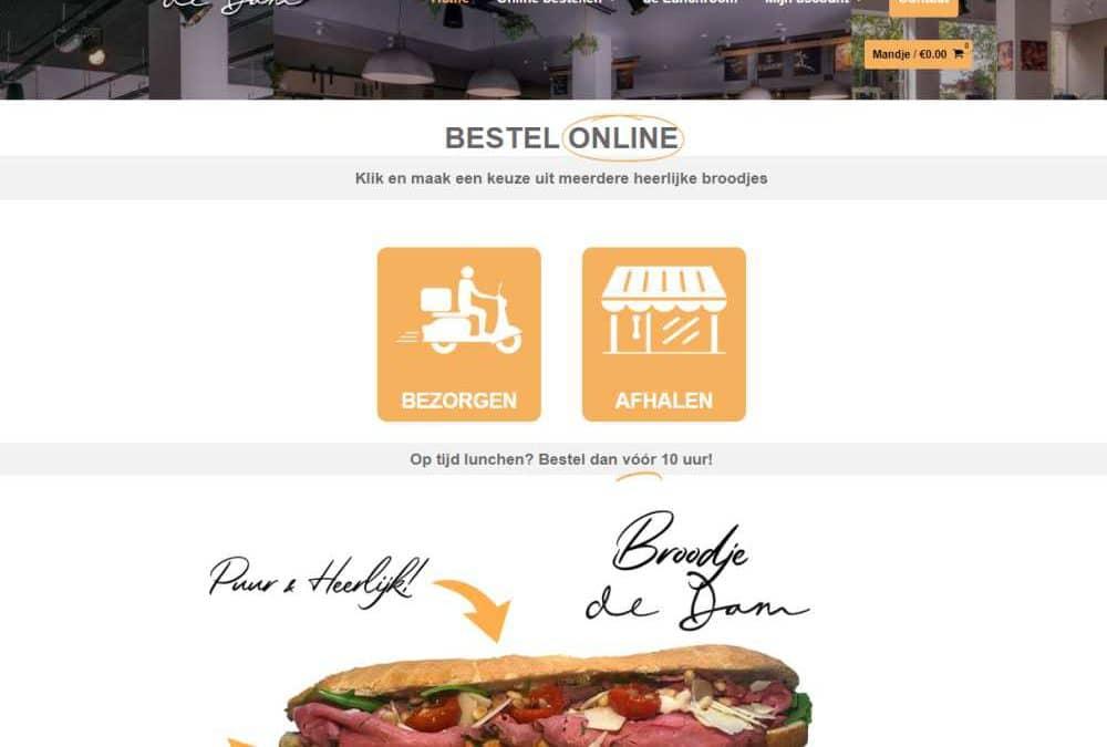 Online broodjes bestellen op de website van de Dam Goes