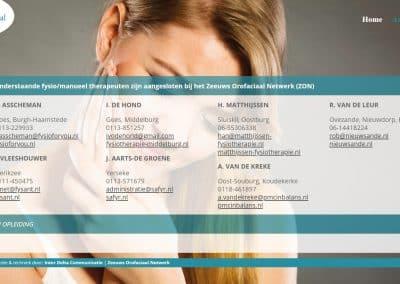 Website Zeeuws Orofaciaal Netwerk