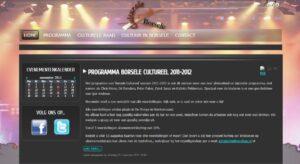 website Culturele Raad Borsele 2011-2016